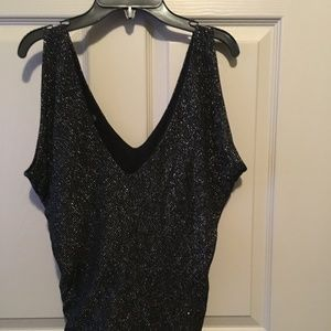 Guess Tops - Guess black and silver shimmer top.